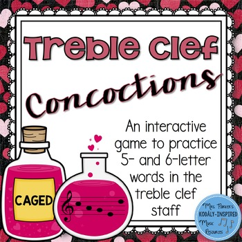 Treble Clef Concoctions Interactive Game {5- and 6-Letter