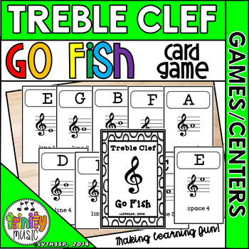 Treble Clef Go Fish Game (Black and White Covers)