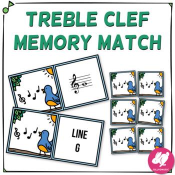 Treble Clef Music Memory Game