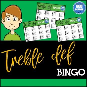 Treble Clef bingo