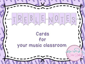 Treble Clef note posters for your classroom