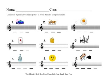 Treble Note Pictures