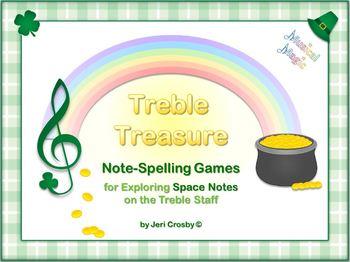 Treble Treasure - 33 Note-Spelling Words for Treble Spaces