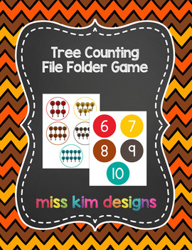 Tree Counting File Folder Game for Early Childhood Special