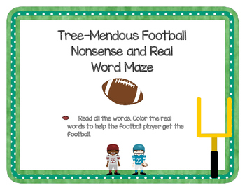 Tree-Mendous Real and Nonsense Word Football Maze