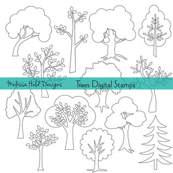 Clipart Tree Outlines Hand Drawn Clipart