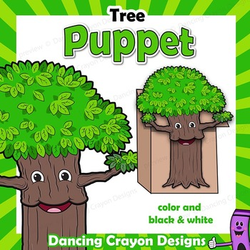 Earth Day Craft Activity | Tree Paper Bag Puppet
