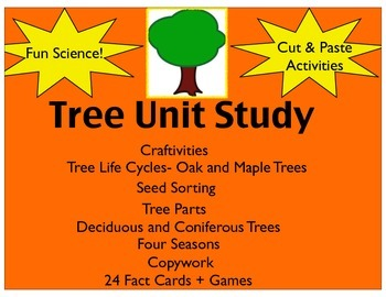 Tree Unit Study(Printables, Centers, Bulletin Boards and Games)