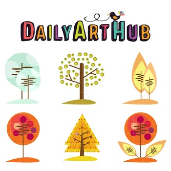 Tree of Art Clip Art - Great for Art Class Projects!