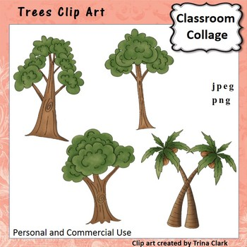 Trees Clip Art - color - personal & commercial use