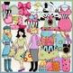 Trendsetters Clip Art Bundle - 2 Clip Art & B&W Sets