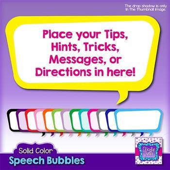 Color Rectangle Speech Bubbles Clipart