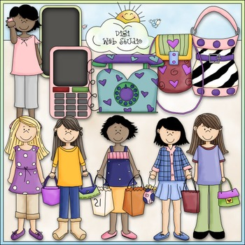 Trendy Teens Clip Art 1 - Teenager Clip Art - Fashion - CU