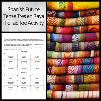 Tres en Raya/Tic Tac Toe: Spanish Future Tense