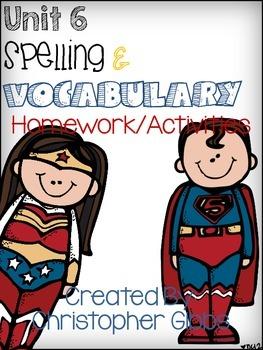 Tresures Reading Program 2nd Grade Unit 6 Spelling and Vocab