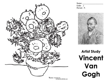 Tri-Fold Worksheet - Vincent Van Gogh