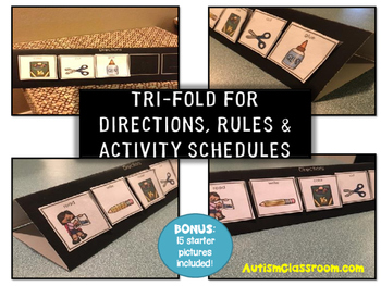 Tri-fold for Directions, Rules and Activity Schedules