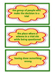 Trial of Cardigan Jones Vocabulary Cards, Unit 1 Lesson 2,