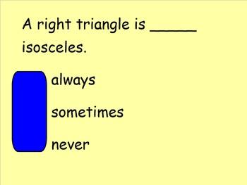 Triangle Classification Interactive Response Activity