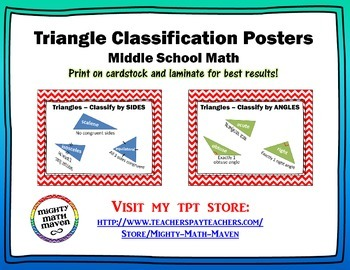Triangle Classification Posters - Middle School Math