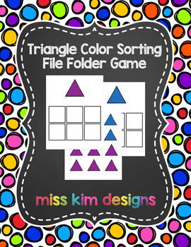 Triangle Color Sorting Folder Game for Early Childhood Spe