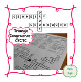 Triangle Congruence CPCTC Geometry Proofs Crossword Puzzle