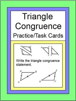Triangles - Triangle Congruence Practice(SSS,SAS,ASA,AAS,H