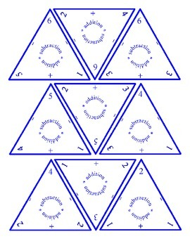 Triangle Flash Cards for Addition and Subtraction