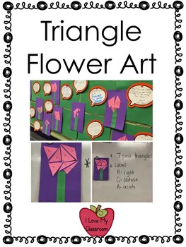 Triangle Flower Math Art Freebie