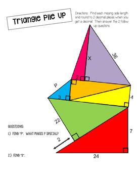 Triangle Pile Up - Pythagorean Theorem