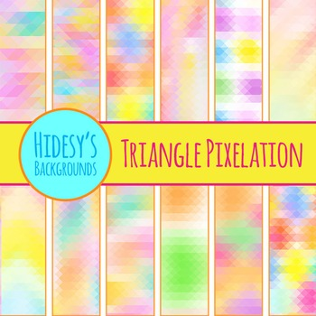 Triangle Pixelation Background Patterns Clip Art Pack for