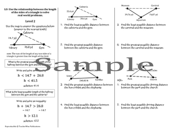 Triangle Problem Solving Mini Lessons & Homework: Types, S