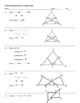 Triangle Proof Practice Worksheet