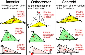 Triangle Properties- Student Reference, a Proof, + 4 Assig