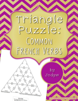 Triangle Puzzle - Common French Verbs