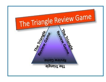 Triangle Puzzle Review Game - French, Spanish or any Subject
