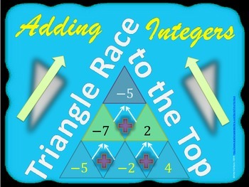 Triangle Race to the Top:  Adding Integers