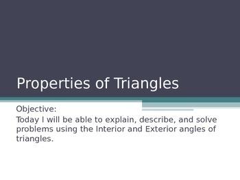 Triangle Sum Powerpoint