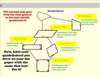 Triangle and Quadrilateral Dot Paper Classifications - Int