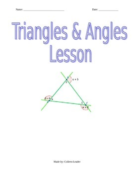 Triangles & Angles Lesson