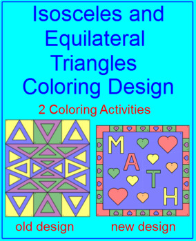 Triangles - Isosceles and Equilateral - Coloring Design