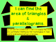 Triangles & Parallelograms Power Point (Finding Area)