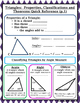 Triangles - Properties, Classifications Theorems Graphic O