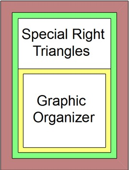 Special Right Triangles Graphic Organizer and 6 Warmups/Ex