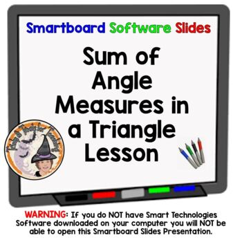 Triangles Sum of Angle Measures in a Triangle Geometry Sma