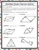 Triangles and Congruency Method Practice FREEBIE