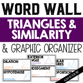 Triangles and Similarity Vocabulary Word Wall and Graphic