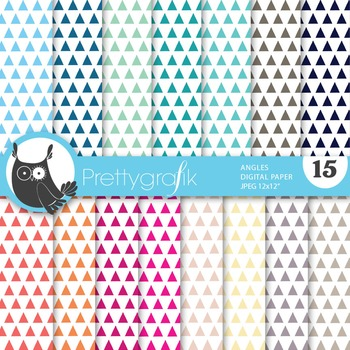 Triangles geometric digital paper, commercial use, scrapbo