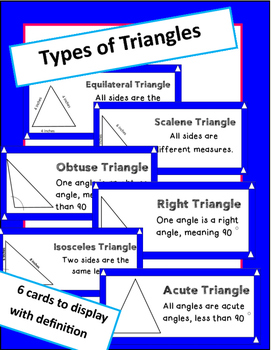 Triangles (types of triangles with definitions)