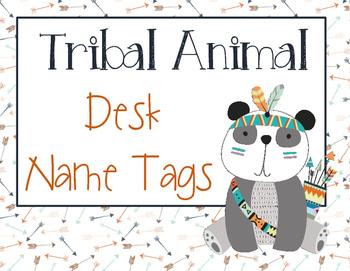 Tribal Animal Desk Name Tags